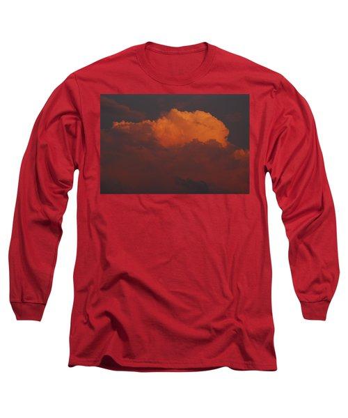 Billowing Clouds Sunset Long Sleeve T-Shirt