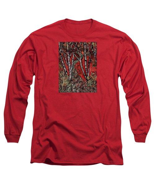 Birch Tree Mosaic Long Sleeve T-Shirt