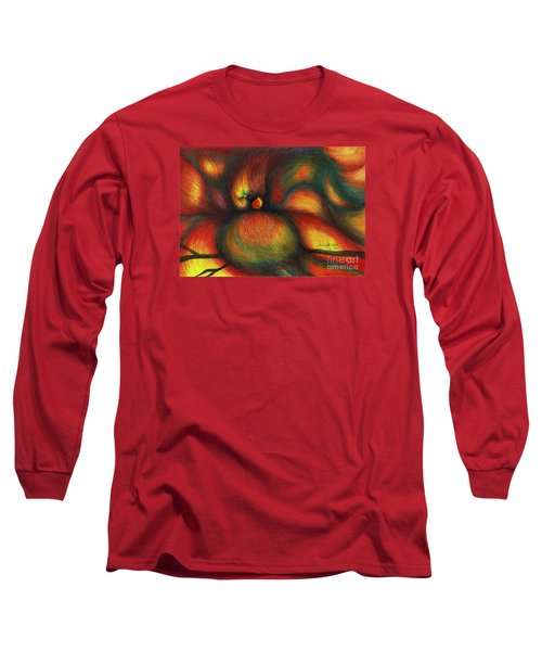 Long Sleeve T-Shirt featuring the painting Bird by Fanny Diaz