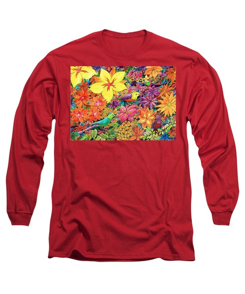 Birds In Paradise Long Sleeve T-Shirt by Charles Cater