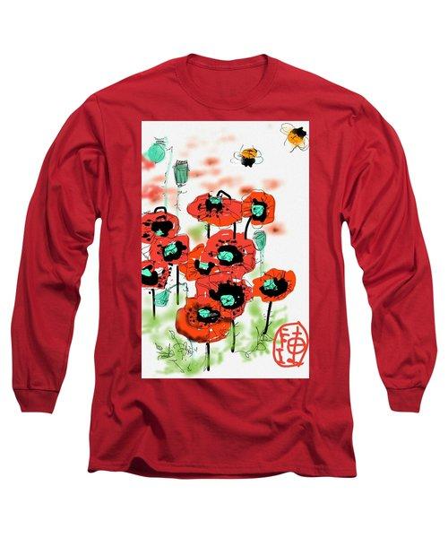 Birthday Field Of Flowers  Long Sleeve T-Shirt