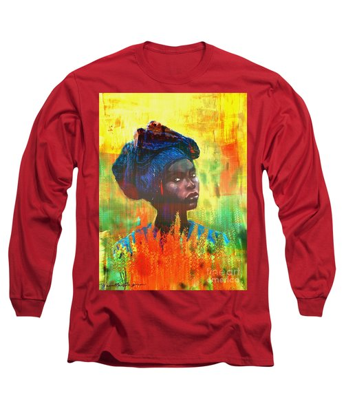 Black Beauty Long Sleeve T-Shirt by Vannetta Ferguson