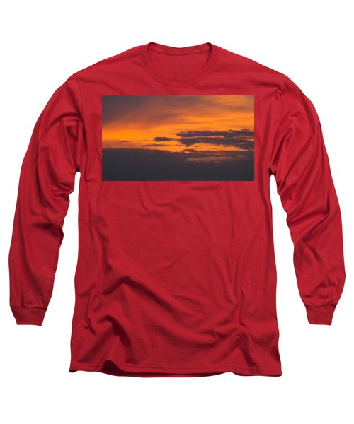 Black Cloud Sunset  Long Sleeve T-Shirt by Don Koester