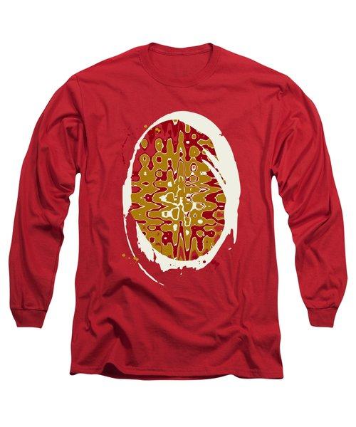 Black Gold Abstract Long Sleeve T-Shirt