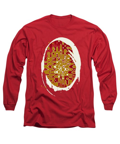 Black Gold Abstract Long Sleeve T-Shirt