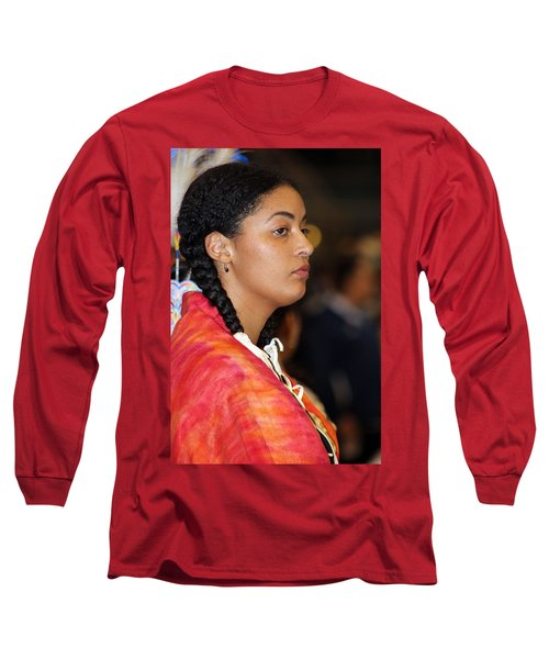 Black Native Long Sleeve T-Shirt by Audrey Robillard