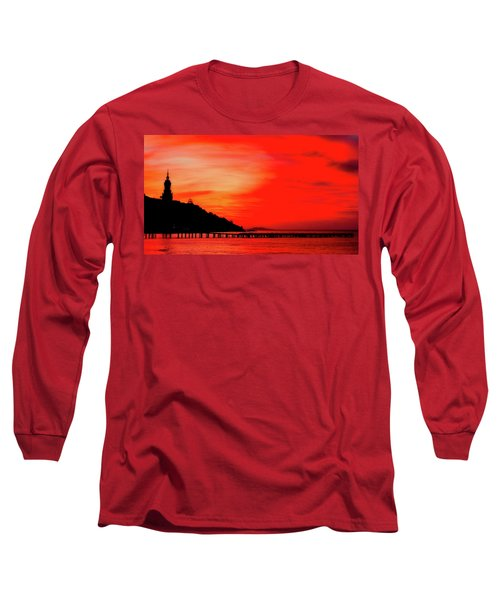 Black Sea Turned Red Long Sleeve T-Shirt by Reksik004