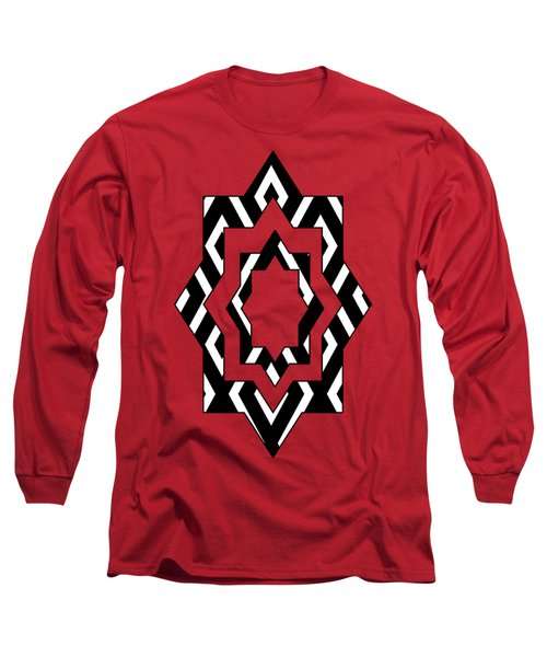 Black And White Pattern Long Sleeve T-Shirt