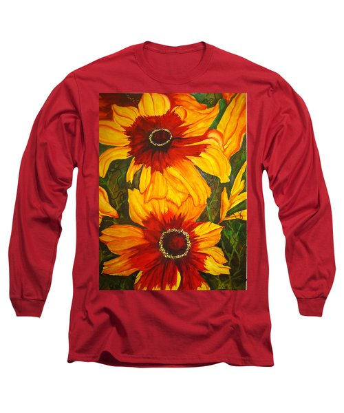 Blanket Flower Long Sleeve T-Shirt by Lil Taylor