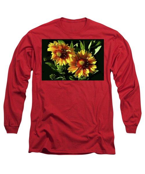 Blanket Flowers - Gaillardia Long Sleeve T-Shirt
