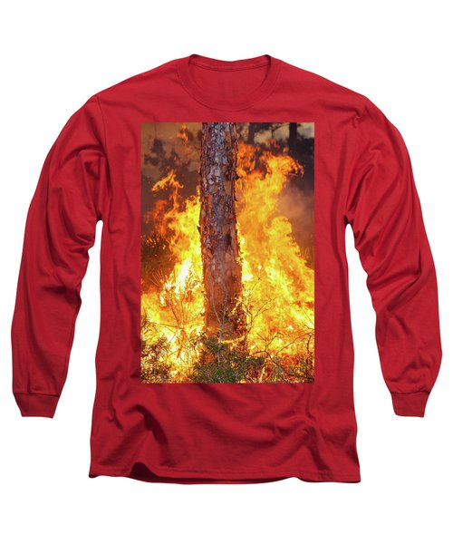 Long Sleeve T-Shirt featuring the photograph Blazing Pine by Arthur Dodd