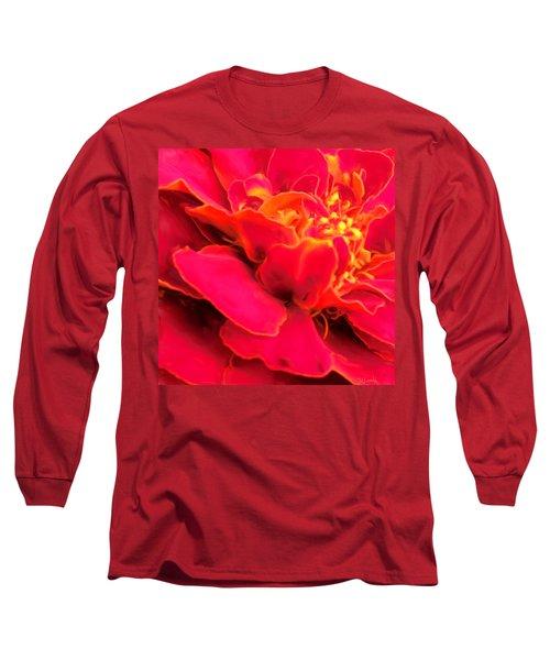 Blazing Pink Marigold Long Sleeve T-Shirt