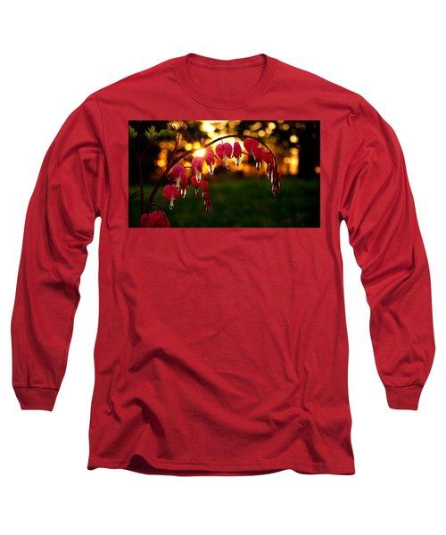 Bleeding Heart Sunset Long Sleeve T-Shirt
