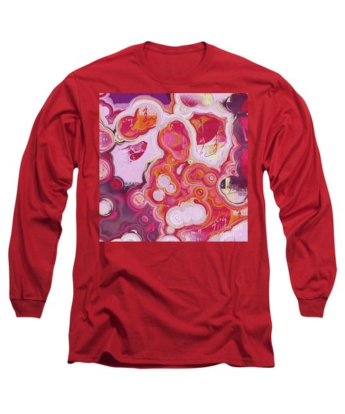 Long Sleeve T-Shirt featuring the digital art Blobs - 03v2c7b by Variance Collections