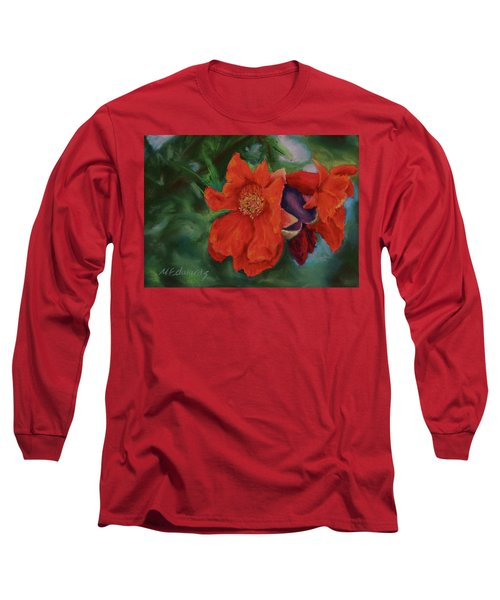 Blooming Poms Long Sleeve T-Shirt by Marna Edwards Flavell
