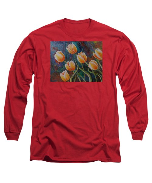 Long Sleeve T-Shirt featuring the painting Blowing In The Wind by Susan DeLain