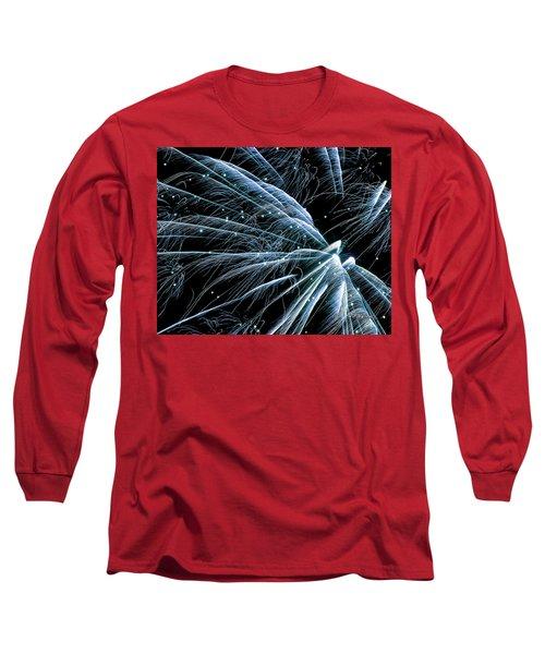 Blue Fairy Fireworks #0710_3 Long Sleeve T-Shirt