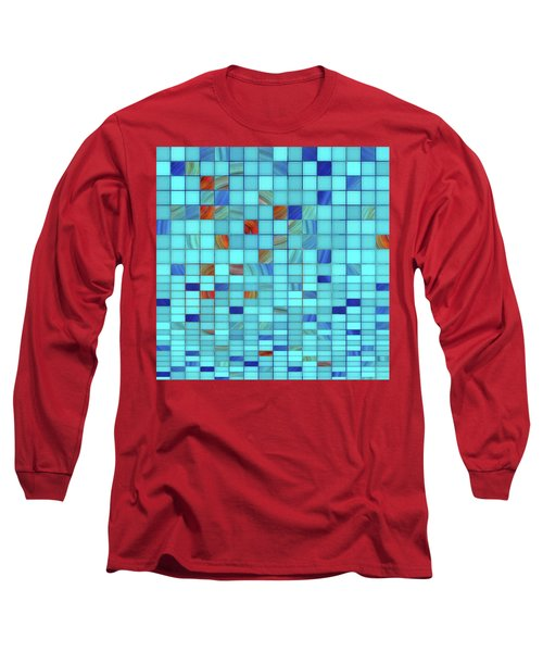 Blue Geometrical Art - Block Party 1 - Sharon Cummings Long Sleeve T-Shirt