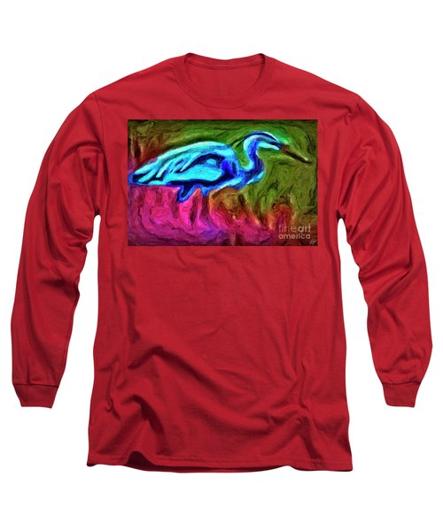 Long Sleeve T-Shirt featuring the photograph Blue Heron by Walt Foegelle