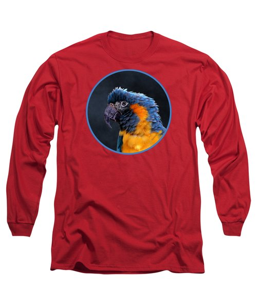 Blue-throated Macaw Profile Long Sleeve T-Shirt
