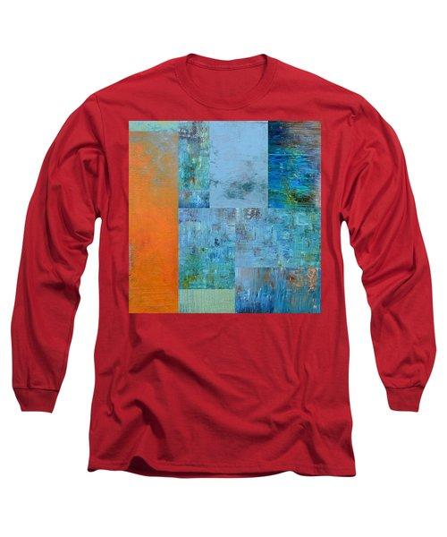 Blue With Orange 2.0 Long Sleeve T-Shirt
