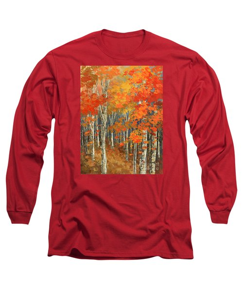 Long Sleeve T-Shirt featuring the painting Bold Banners by Tatiana Iliina