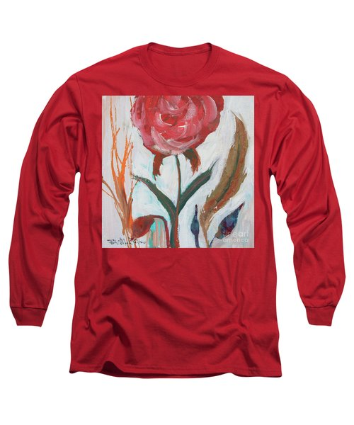 Long Sleeve T-Shirt featuring the painting Bold Bright Beautiful Bloom by Robin Maria Pedrero