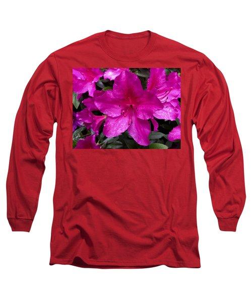 Bold Pink Flower Long Sleeve T-Shirt