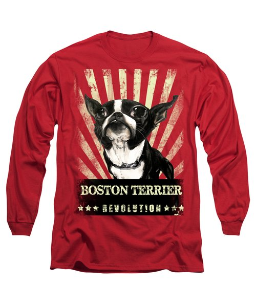 Boston Terrier Revolution Long Sleeve T-Shirt