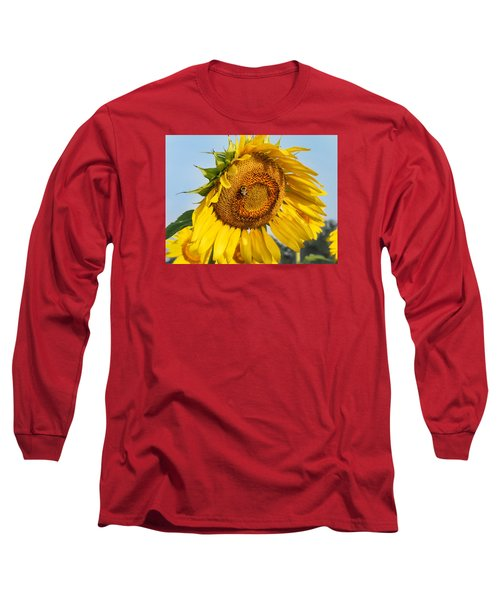 Bowed Sunflower Long Sleeve T-Shirt