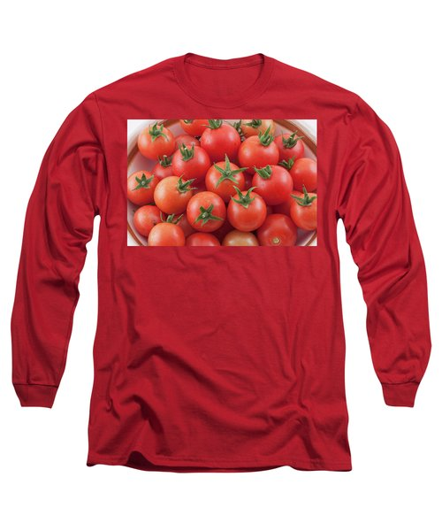 Long Sleeve T-Shirt featuring the photograph Bowl Of Cherry Tomatoes by James BO Insogna