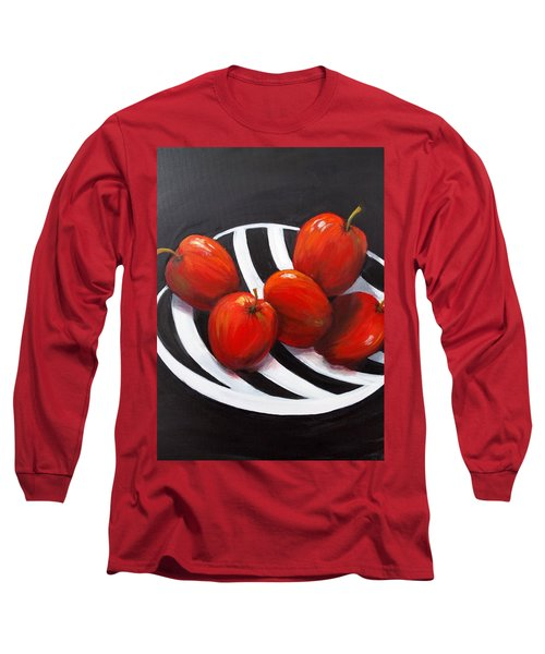 Bowl Of Shiny Apples Long Sleeve T-Shirt