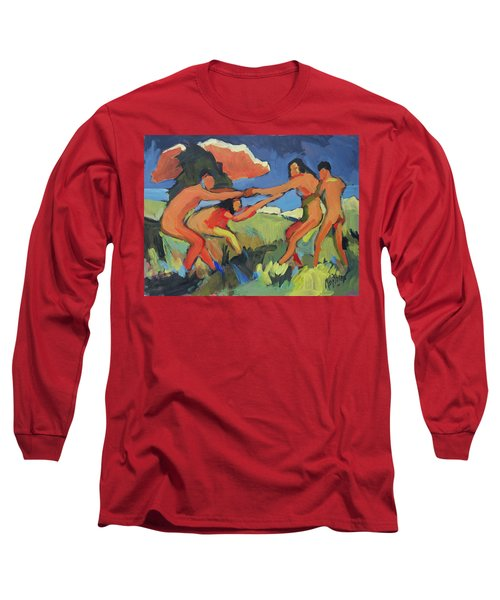 Boys And Girls Playing Long Sleeve T-Shirt