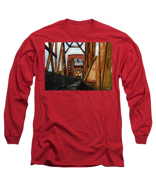Brazos River Railroad Bridge Long Sleeve T-Shirt