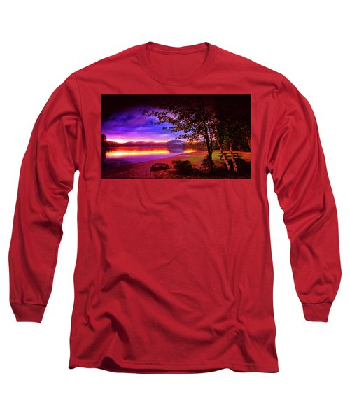 Bretton Pond Rest Area In Livermore Maine Long Sleeve T-Shirt