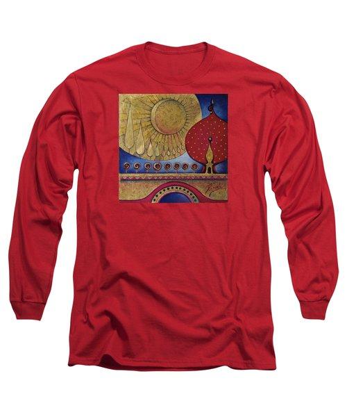Bridge Between Sunrise And Moonrise Long Sleeve T-Shirt by Anna Ewa Miarczynska