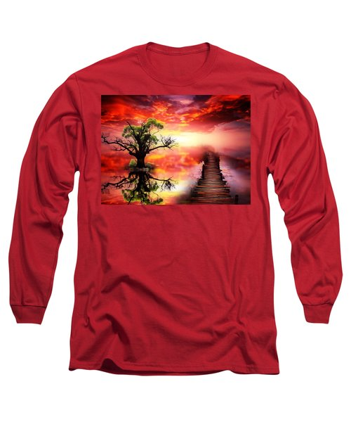Bridge Into The Unknown Long Sleeve T-Shirt by Gabriella Weninger - David