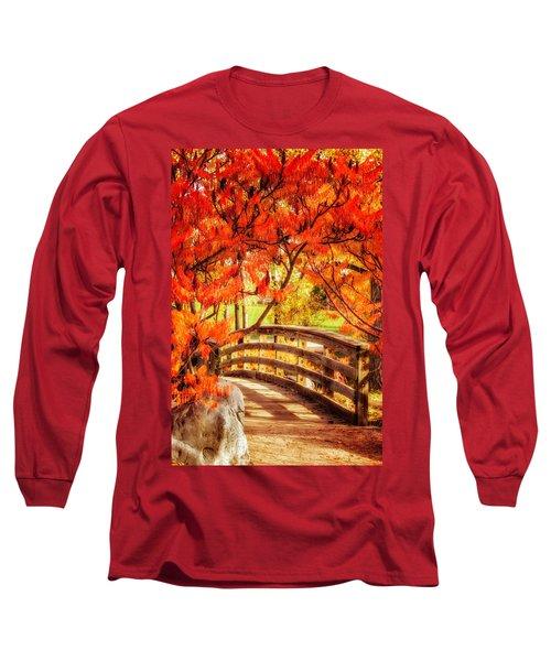Bridge Of Fall Long Sleeve T-Shirt by Kristal Kraft