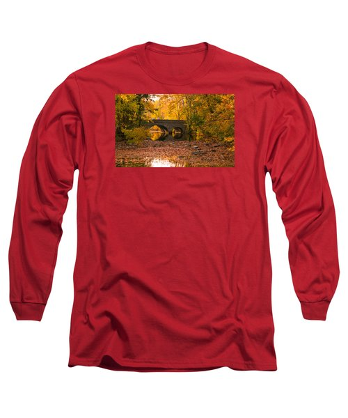 Bridge Of Gold Long Sleeve T-Shirt by Cathy Donohoue