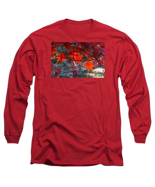 Bright Autumn Leaves Long Sleeve T-Shirt