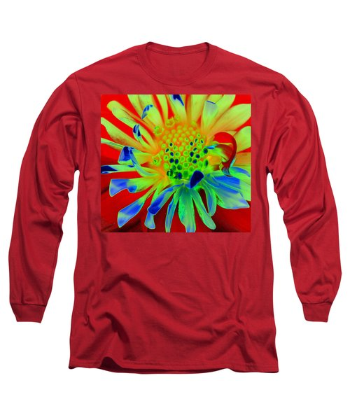Bright Flower Long Sleeve T-Shirt by Diane E Berry