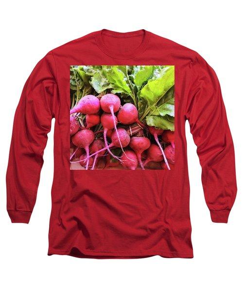 Bright Fresh Radish Long Sleeve T-Shirt