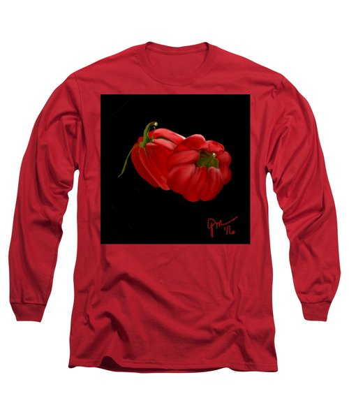 Bright Red Peppers Long Sleeve T-Shirt