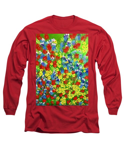 Brilliant Florals Long Sleeve T-Shirt by George Riney
