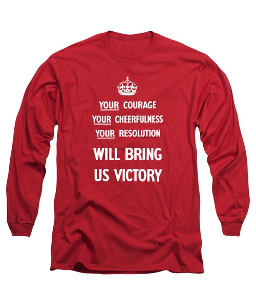 British Ww2 Propaganda Long Sleeve T-Shirt