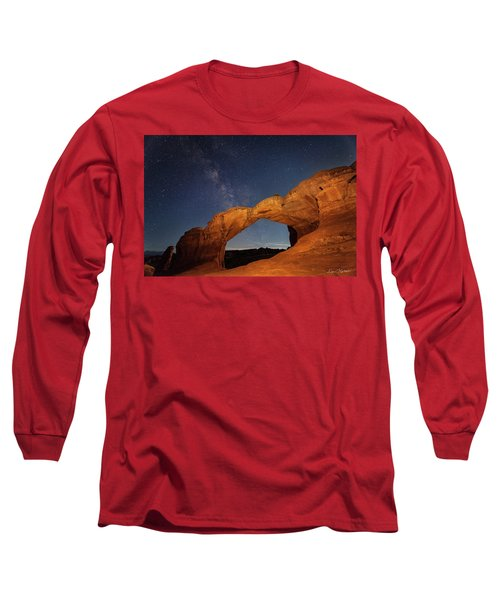Broken Arch And Milky Way Long Sleeve T-Shirt