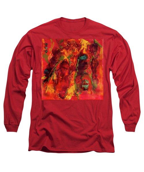 Broken Mask Encaustic Long Sleeve T-Shirt by Bellesouth Studio