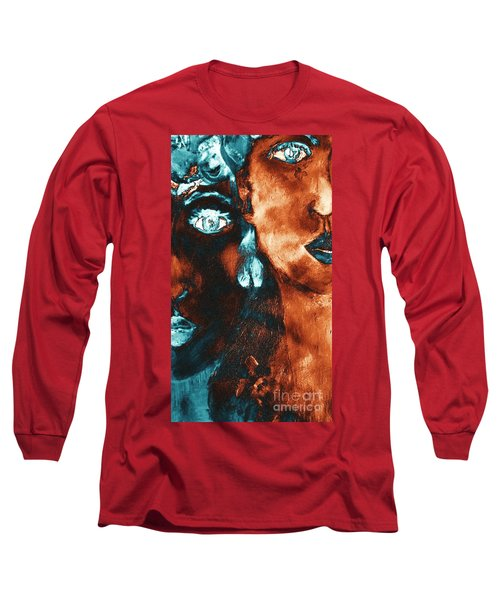 Bronze Sisters Painting Long Sleeve T-Shirt