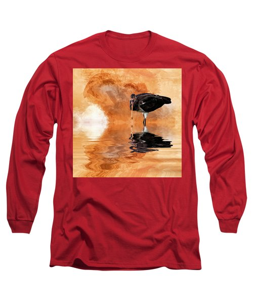 Brown Ibis Long Sleeve T-Shirt by Cyndy Doty