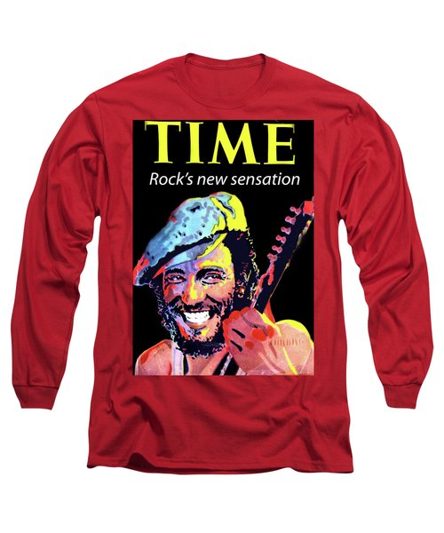 Bruce Springsteen Time Magazine Cover 1980s Long Sleeve T-Shirt